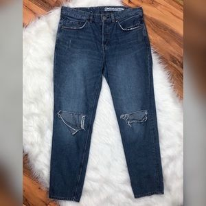 H&M Boyfriend Low Waist Distressed Jeans